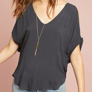NWT ANTHROPOLOGIE CLOTH & STONE cold shoulder top